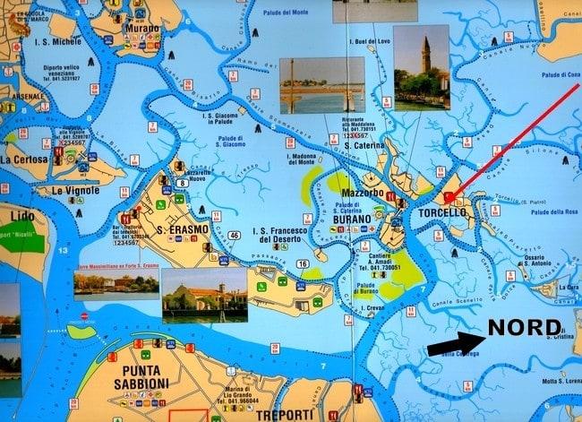 Carte Italie Burano.L Ile De Torcello Venisejetaime